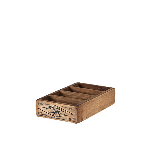 DULTON WOODEN BOX FOR BUSINESS CARDS NATURAL H.43mm W.110mm D.200mm Inside H.35mm W.95mm D.35mm/each