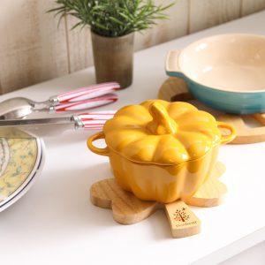 木製カップルトリベットクローバー(鍋敷き)